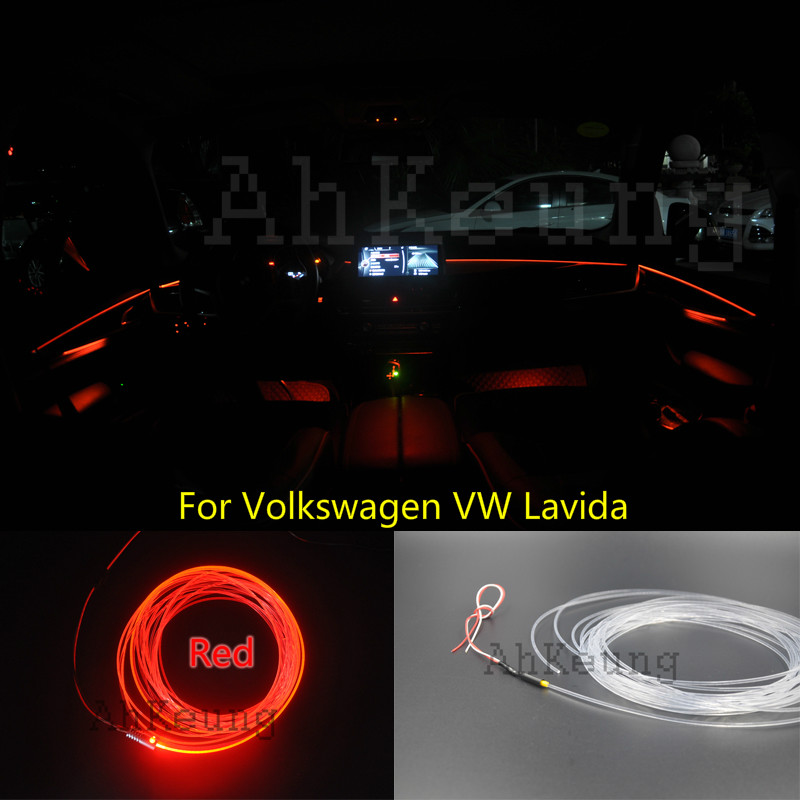 For Volkswagen VW Lavida Car Interior Ambient Light Panel illumination For Car Inside Tuning Cool Strip Light Optic Fiber Band  for kia cee d jd 2006 2012 car interior ambient light panel illumination for car inside tuning cool strip light optic fiber band