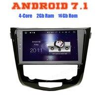 Per Nissan X-Trail x trail Qashqai 2014 2015 2016 Quad Core Android 7.1 Auto RADIO GPS Con schermo Capacitivo nessun disco Stero NAVI