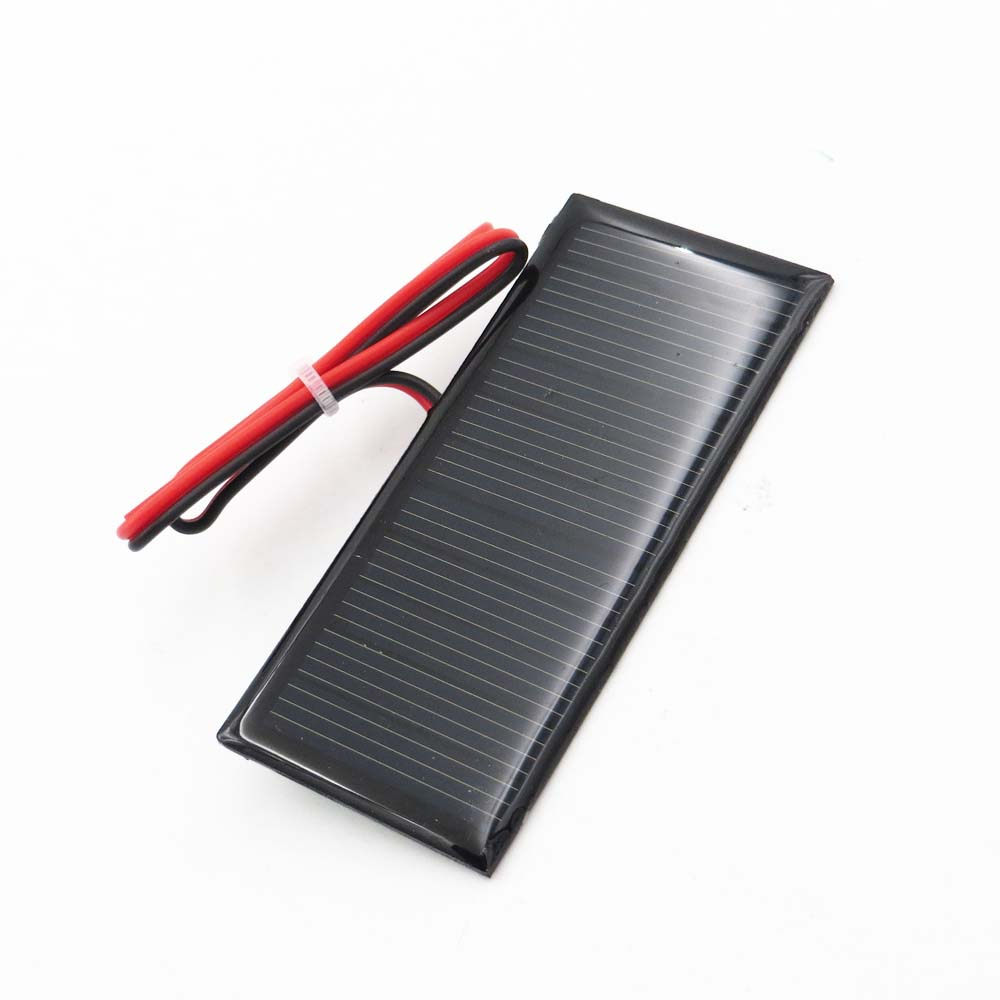 5.5V 70mA 0.39Watt Solar Panel Polycrystalline Silicon DIY Battery Charger Small Mini Solar Cell Cable Toy 5.5V Volt 5v