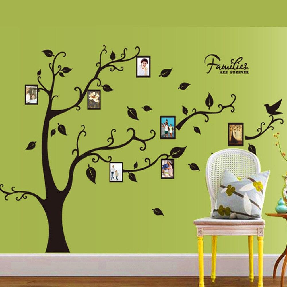 3D Sticker On The Wall Black Art Photo Frame Memory Tree Wall ...