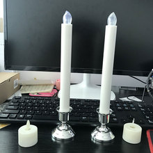 Free Ship Silver/Gold Plated Candle Holder Votive Candles Holder For Candles Fake Tapers Christmas Party Decoration For Wedding