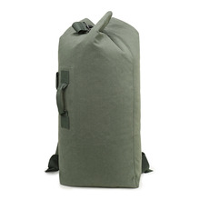 Outdoor Men Military Backpack mochila Travel Luggage Army Bag Canvas Hiking Backpack Camping Tactical Rucksack Bags Army Green
