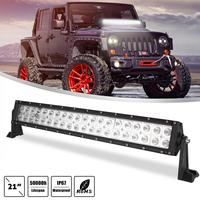 21 Inch 200W 2 Rows 6000K White Waterproof Car Led Work Light Bar for Off Road Suv Boat 4X4 Jeep JK 4Wd Truck 12V 24V