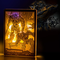 GOLDENKAYI Night Lights Comic Role Figurine Photographic Paper Carving 255*180mm For Bedroom Remote Control Switch Night Lights