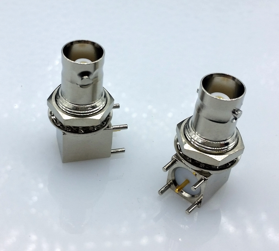 10pcs/lot 5pin copper plating nickel RF Coaxial Connector BNC Female socket bulkhead Right Angle PCB Mount BNC Connector f head female to rf female connector imperial rf tv connector angle copper