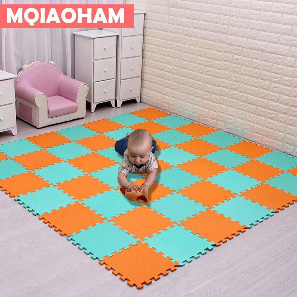 18pcs EVA Foam Mat Multi Colors Children's Puzzle Mat Baby Playing Interlocking Foam Floor Pad Sets Foam Home Flooring Tile