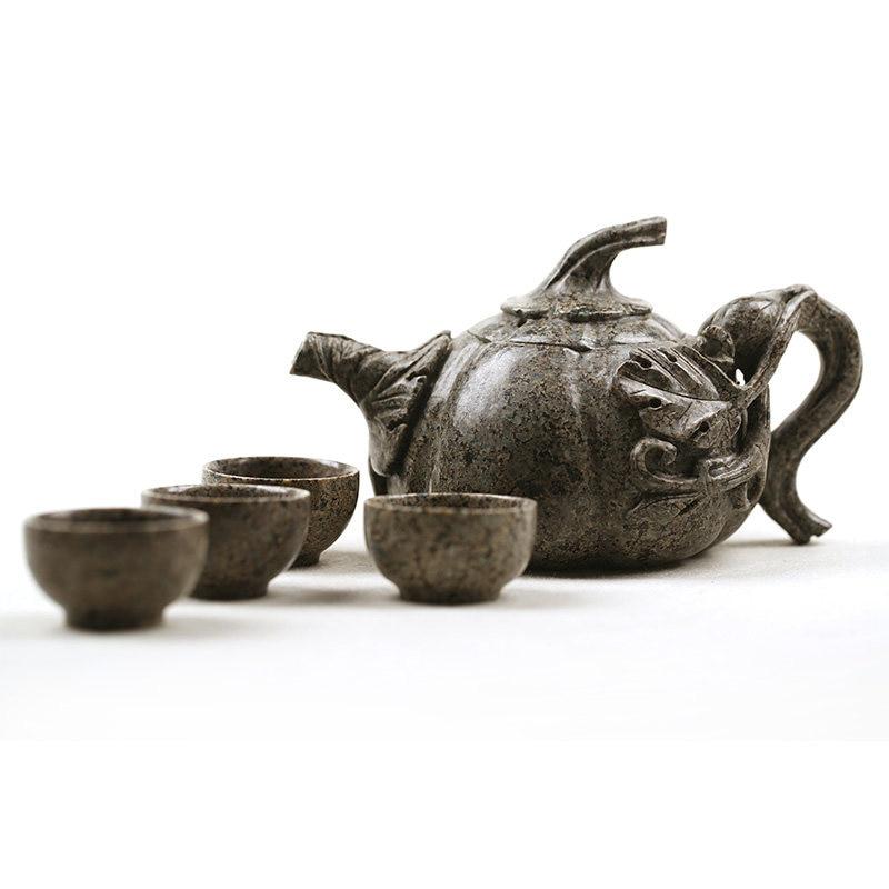Ensemble de théière en pierre maifan chinois ensemble de thé à la maison
