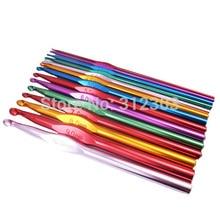 Новые 14 шт Размер 2-10 мм Разноцветные Алюминиевые крючки вязальные Вязание иглы прочные ремесла пряжа инструменты 15 см