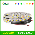 Led Strip 5050 DC 12V RGB LED Strip Non-Waterproof 60leds/m 5m/lot 300 Led Tape strips Lamp SMD 5050 Flexible Ledstrip light