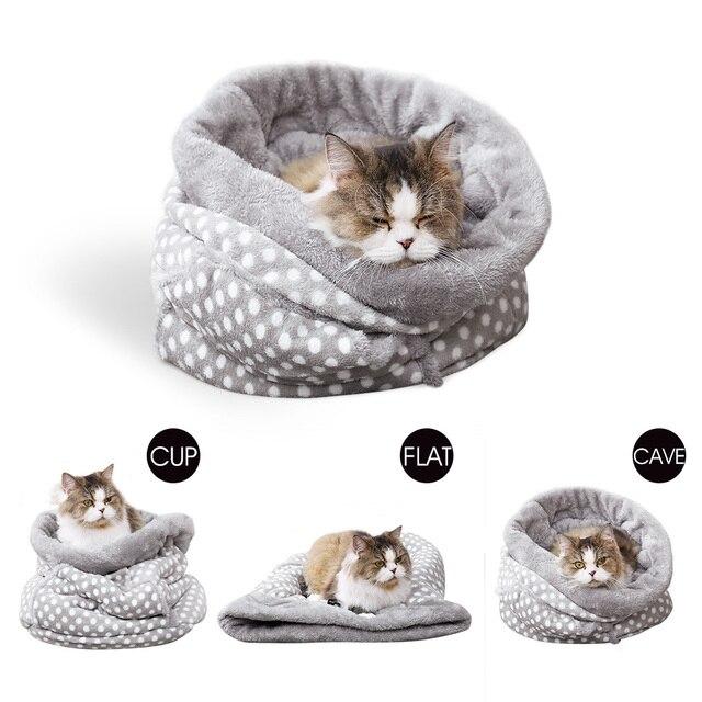 Pet Letto Per Cani Gatti Multi-funzionale 3 in 1 Super-Caldo Morbido Velluto Gat