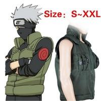 Mens Anime Naruto Hatake Kakashi Ninja Vest Coat Cosplay Costumes Uniform
