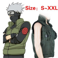 Mens Anime Naruto Hatake Kakashi Ninja Vest Coat Cosplay Costumes Uniform