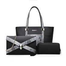 Diseñador de lujo Bolsos Mujer Bolsos PU de Cuero Compuesto Bolsa de Conjunto Serpentina de las mujeres Bolsa de Asas de Hombro sac Femme Principal de marca
