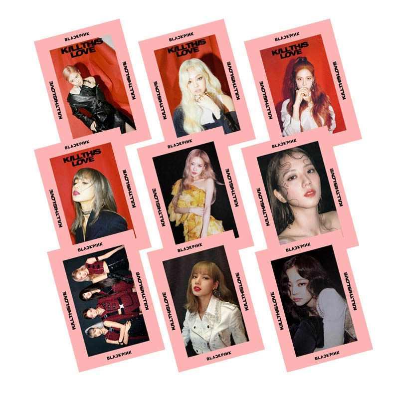 1 قطعة Blackpink Lomo بطاقات تقتل هذا الحب جديد ألبوم شفافة PVC صور بطاقات لجمع المشجعين هدية