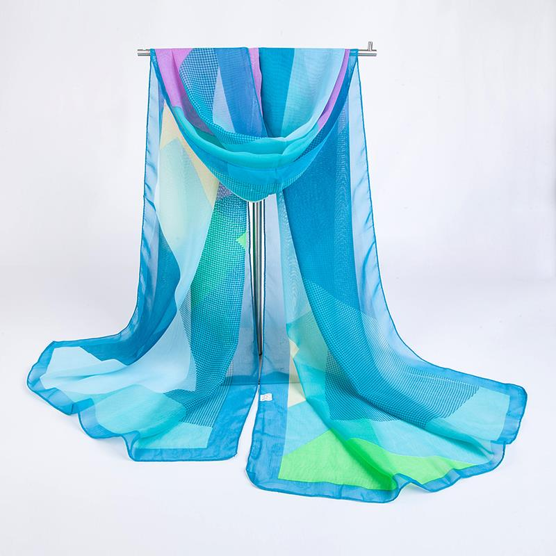Geometric Chiffon scarf | Lightweight Scarves | Up to 60% Off Now