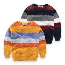 New Winter Boy Jumper Sweaters Baby Boys Striped Cotton Sweater Pullover Kids Casual Sweater Children Clothing