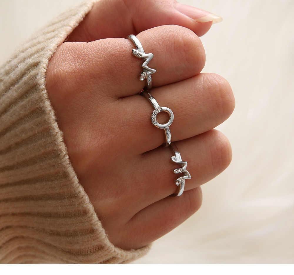 26 ตัวอักษรแหวนเครื่องประดับตัวอักษรจดหมายผู้หญิงผู้ชายแหวนเครื่องประดับ Fine Gold โลหะเงินแหวนคนรักแหวน