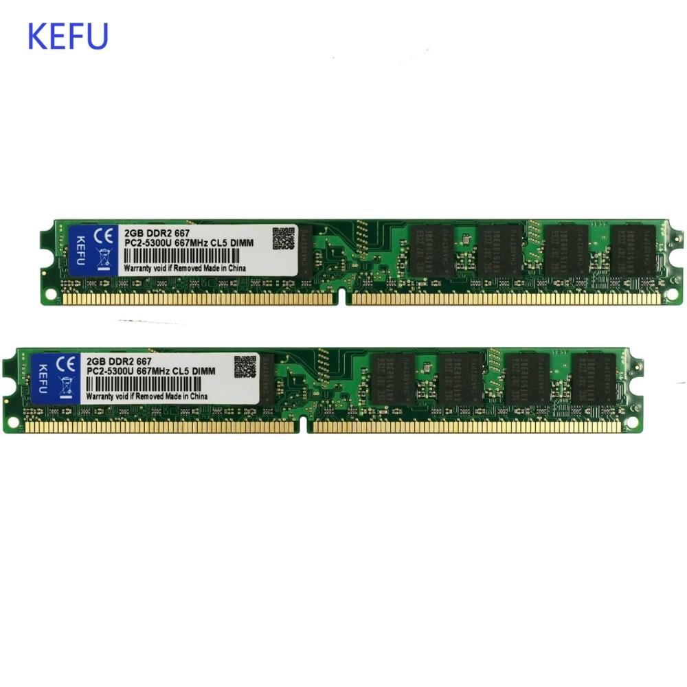 2X 2GB WARRANTY 4GB DDR2 5300 240 PIN DESKTOP RAM 667 MHz MEMORY