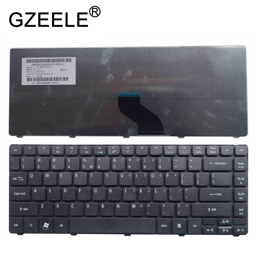 GZEELE new English laptop keyboard for <font><b>Acer</b></font> <font><b>Travelmate</b></font> 8371 8471 8371G 8471G 8331 8331G <font><b>8372</b></font> 8372G 8372T 8372TG US black image