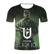 91db3bb2b86613 2019 odzież camisas Hot gry Rainbow Six Siege 3D T-shirt z nadrukiem  kobiety/mężczyźni Hip Hop Streetwear koszulka chłopcy Gothi.