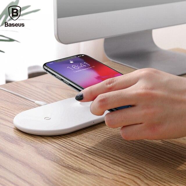BASEUS Bezprzewodowa Ładowarka Inteligentny 2-in-1 Szybka Pad Ładowania dla Telefonu komórkowego dla Oglądać Serii 3/2