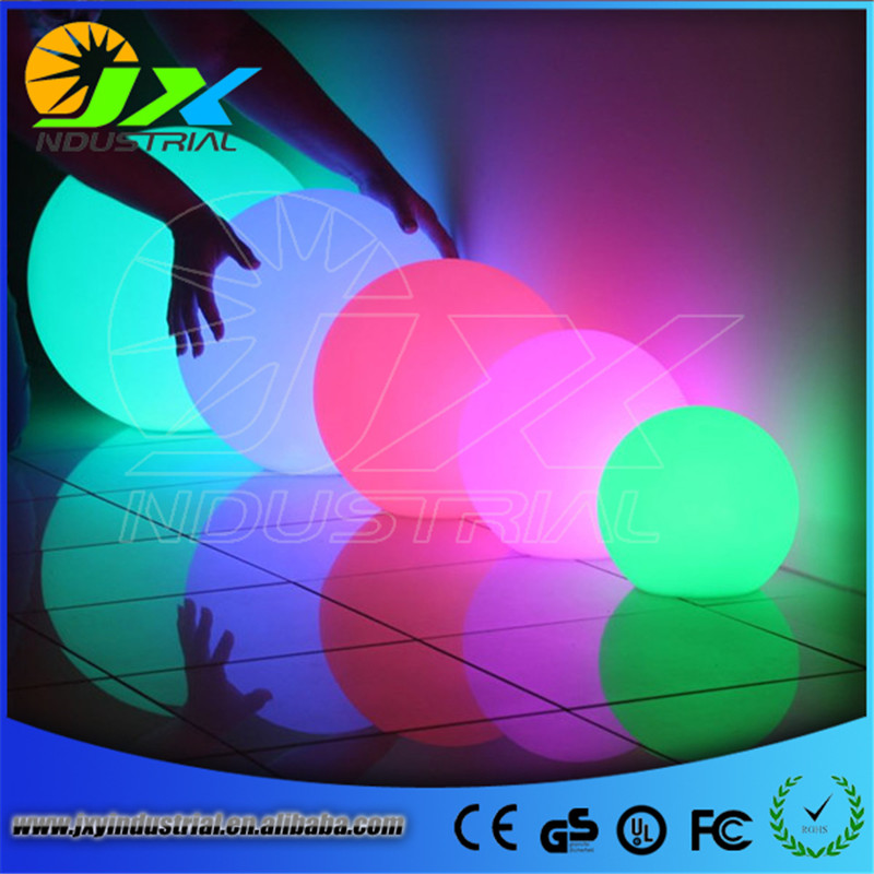 waterproof led rechargeable RGB floating pool ball 12CM with remote