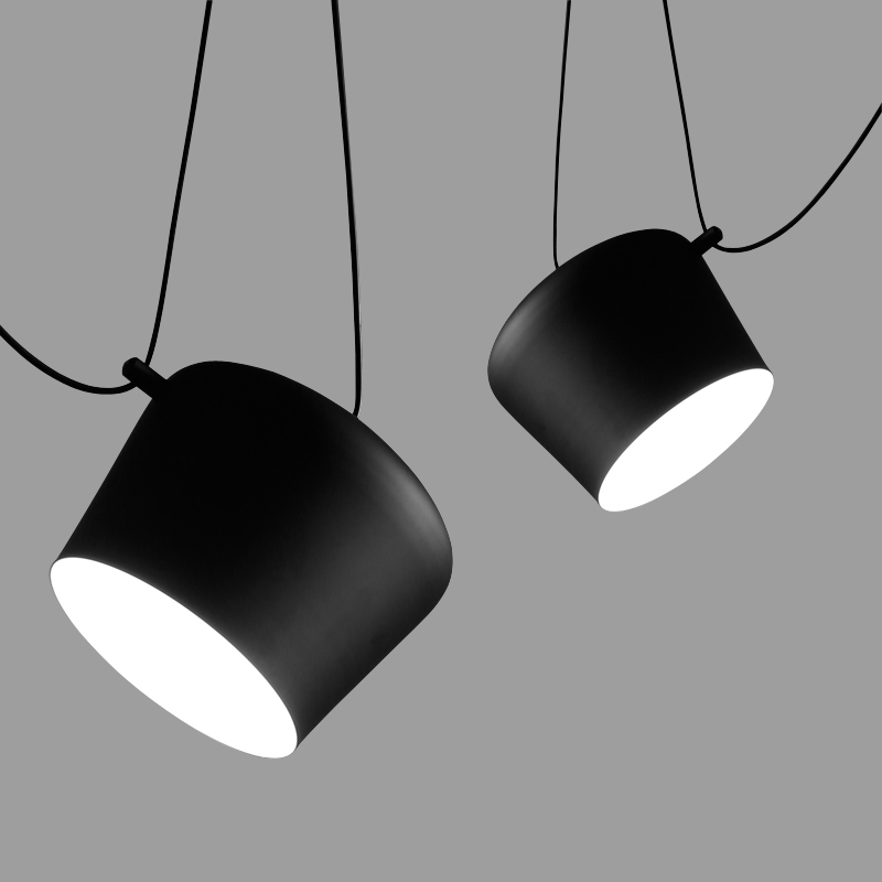 Modern Designer Drum Pendant Light Simple DIY Spider Black Hanglamp Aluminum Lampshade Droplight Indoor Home Lighting In Lights From