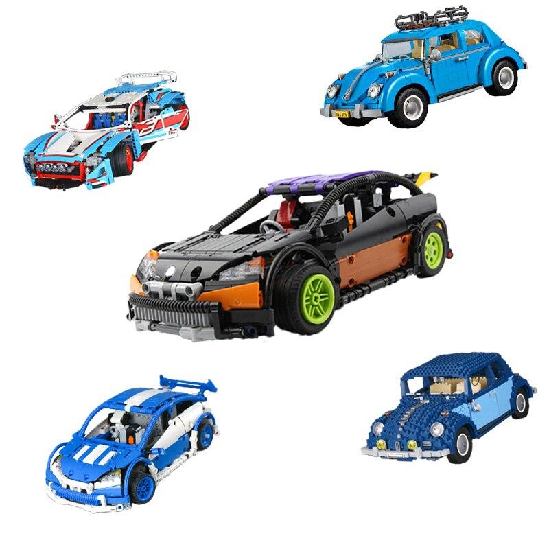 Building Blocks Technic 20053 21003 20077 21014 20053B Car Compatible 10187 10566 Off-road Brick Lepin technic Volkswagen Beetle lepin 21003 1193pcs creator technic series blue city car volkswagen beetle model building blocks bricks compatible 10252 toys