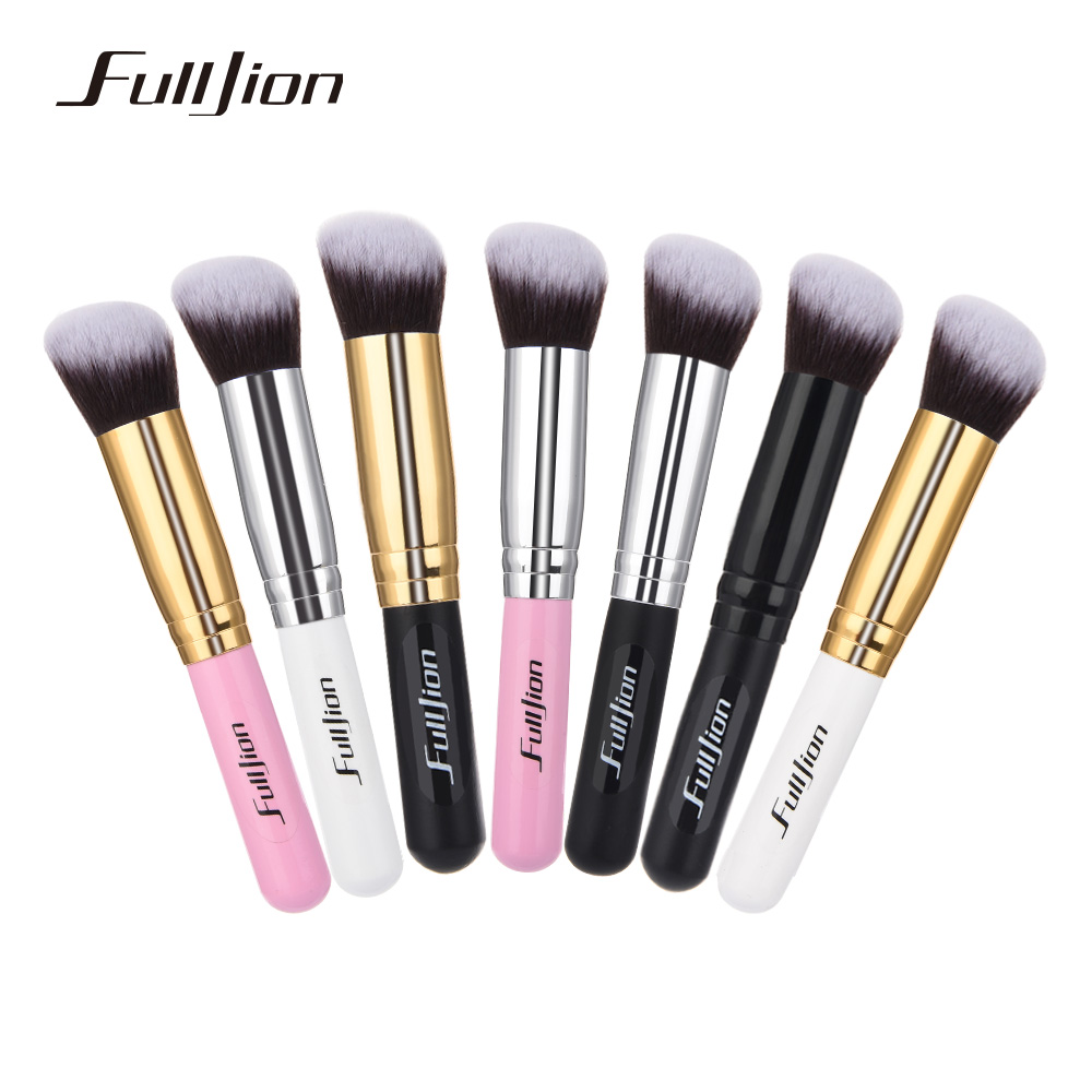 Fulljion 1pcs Oblique Head Blush Brush Multi-function Foundation Powder Makeup Brushes Cosmetics Tools Wood Handle 7 Colors fulljion 1pcs oblique head blush brush multi function foundation powder makeup brushes cosmetics tools wood handle 7 colors