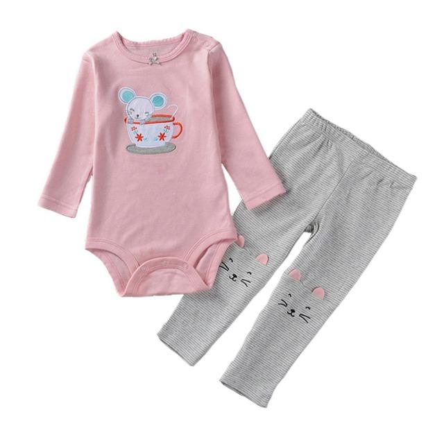 2016 Bebé conjunto de Dibujos Animados de Terciopelo Twinset Conjunto de Manga Larga Pantalón Sudadera con capucha de Algodón Recién Nacido Ropa roupa de Trajes de Los Niños bebe