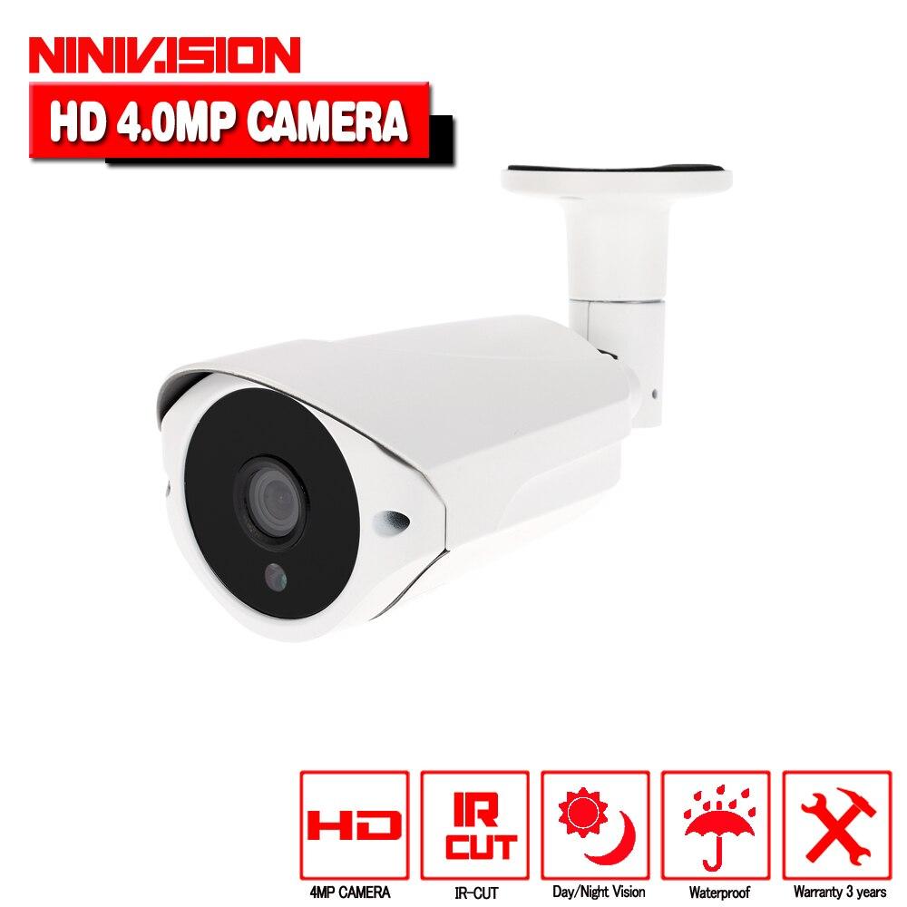 Super 3MP 4MP Full HD CCTV 36 IR LED de Vision Nocturne Métal Infrarouge Extérieure Bullet Étanche de Sécurité de Surveillance AHD Caméra