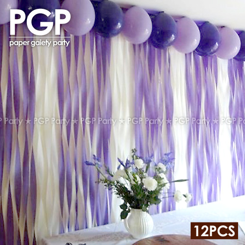 Pgp Purple Crepe Paper Streamers For Wedding Kids Girls