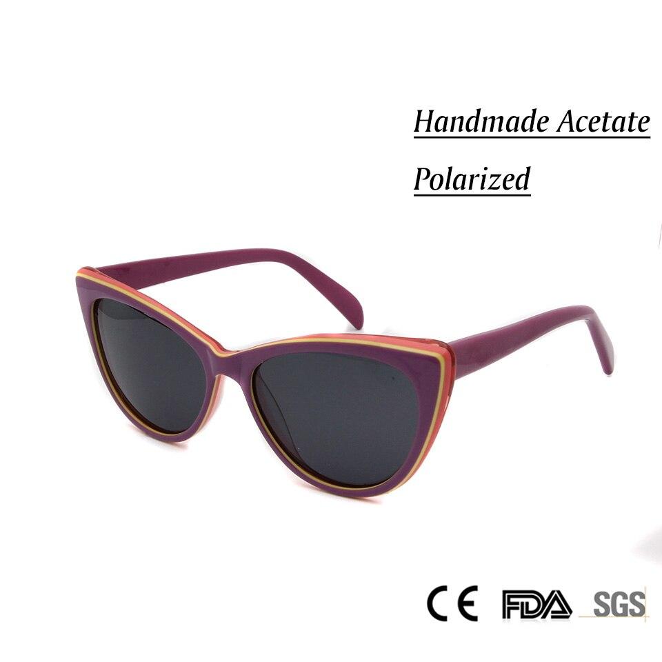 2017 new marca deisgner moda feminina cat eye óculos de sol feitos à mão  acetato oculos polarized óculos de sol para senhoras do vintage afc7a42cfb