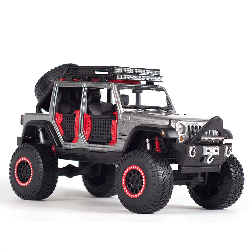 New 2015 Umlimited jeep wrangler 1:24 Maisto car model SUV alloy diecast collection Toy Modified Refit Off-road Four door boy 1 18 scale jeep wrangler rubicon diecast metal car suv model maisto 31663 blue