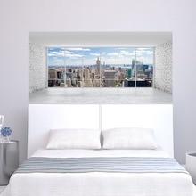 Stadt Gebäude Szene Wand Aufkleber Bett Kopf Aufkleber Wand Aufkleber Für Wohnheim Zimmer Schlafzimmer Wohnkultur