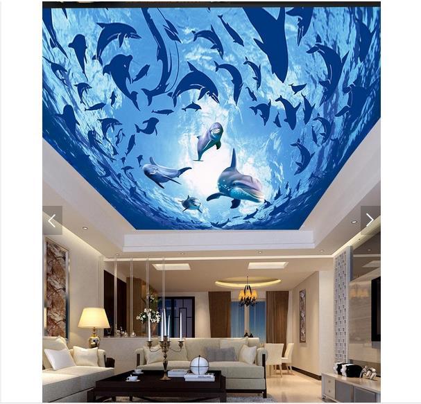 Custom 3d Wallpaper 3d Wall Ceiling Wallpaper Ocean