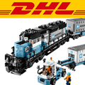 In stock LEPIN 21006 1234pcs Maersk Container Train building kits educational fun toys for children gifts Compatible 10219