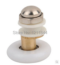 лучшая цена Shower room pulley glass door nylon roller wheels copper large bearing wheel diameter19mm