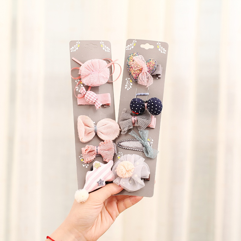 New Cute Bow Children Kids Girls Cotton Sets Cute Girl Baby Crown Party Hair Pin Accessories Wholesale Free Shipping