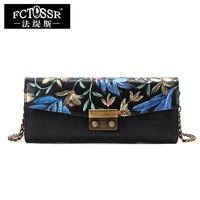 New Arrival Chinese Style Design Women Bag Genuine Leather Shoulder Bag Handmade Paint Envelope Female Messenger