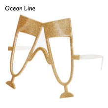 Funny Gold Shiny Champagne Cup Party Glasses Wine Style Holiday Beaches Sunglass