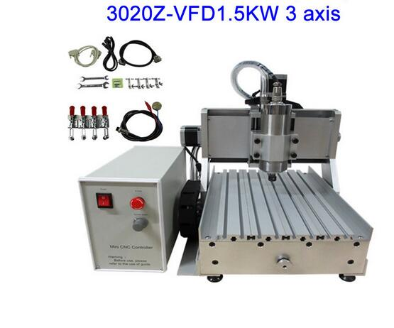 Free Ship from CN ,include tax! LY CNC3020Z-VFD1.5KW 3axis CNC Router /Engraving Machine ,cnc cutting machine 3axis mini cnc router ly cnc3020z vfd1 5kw engraving machine with sink cnc cutting machine