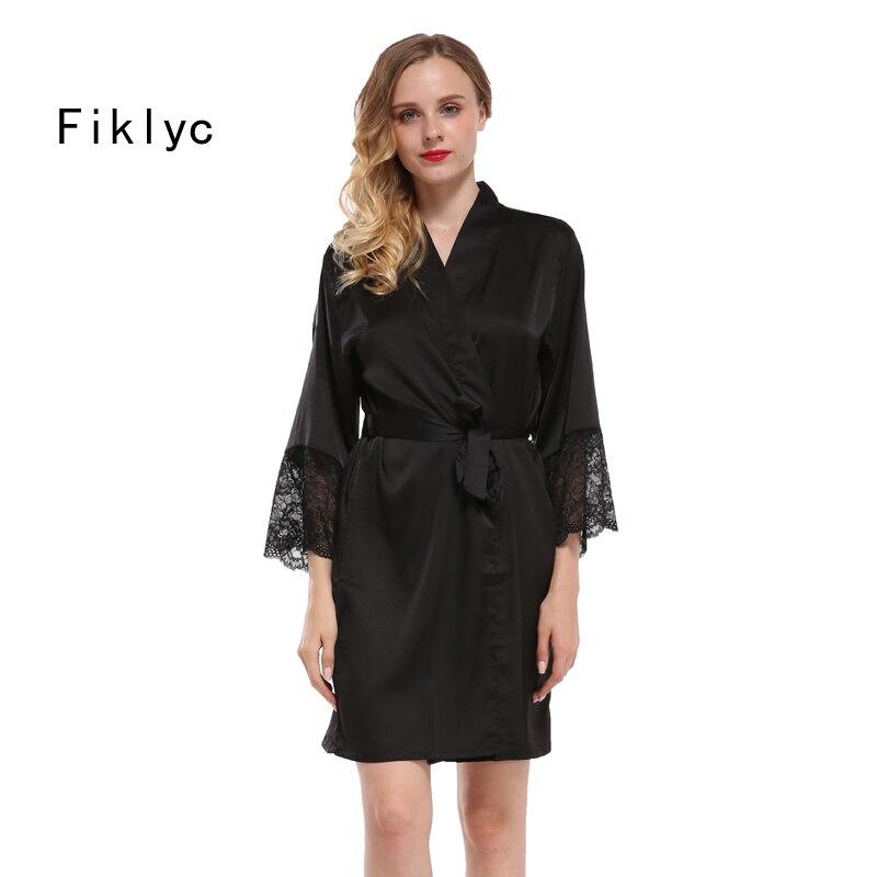 Fiklyc New Arrival Women'S Nightwear Bathing Robes Fashion Sleepwear For Female High Quality Faux Silk M L Xl Xxl Nighties