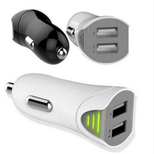 3 1A Universal Car USB charger Dual Port Carregador veicular usb carro