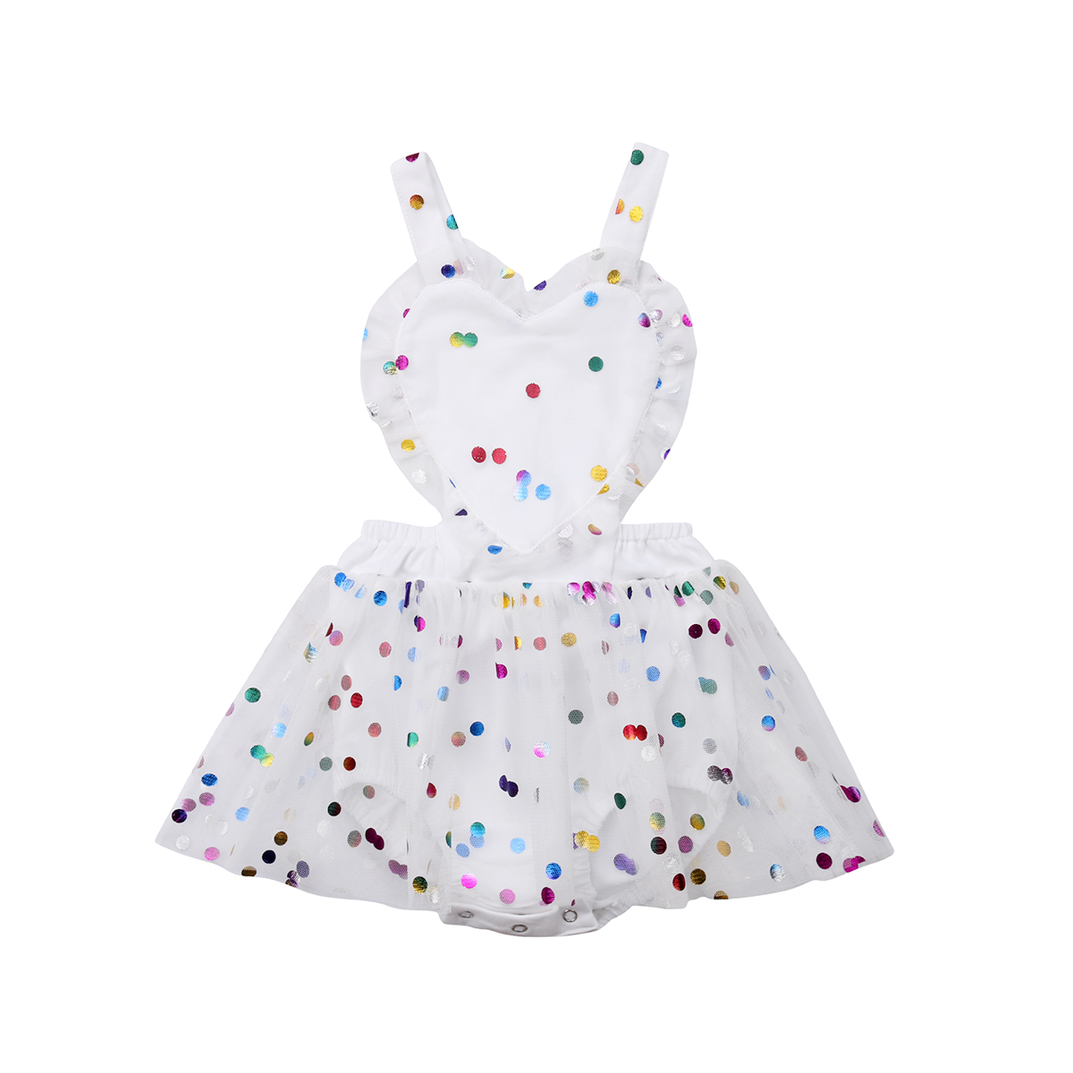 a8aba95ceee9 New Infant Newborn Baby Girls Romper Clothes Halter Backless Cute Ruffles Playsuit  Jumpsuit Dress Clothing Baby