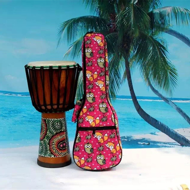 Creative kid gifts portable  concert 23 ukulele bag colorful case soft gig backpack padded lanikai-uku cover with pocket straps