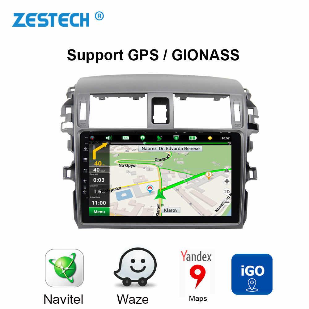 Android 9,0 автомобильный DVD GPS; Мультимедийный проигрыватель для Toyota Corolla 2006-2013 автомобильный dvd головное устройство радио Поддержка управления рулем