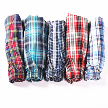 4pcs/lot Classic Plaid Trunks Men Underwear Cotton Mens Boxer SDhorts Elastic Waist Family Panties Home Underpants Loose Boxers