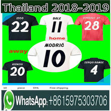 b90093d99 Neue 2019 Real Madrid home Fußball Jersey 18 19 Real Madrid weg blaue  Fußball hemd 2018 MODRIC ASENSIO ISCO KROOS BALE Fußball u.