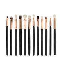 Brand Cosmetic Makeup Brushes Set Kwasten Foundation Eyeshadow Eyeliner Lip Oval Make Up Eye Brush Set mini 12 pcs maquiagem